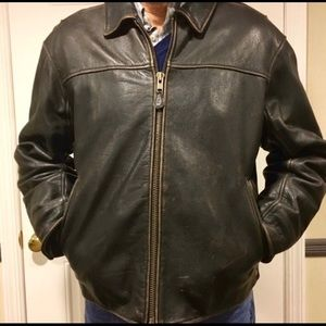 Vintage Distressed Leather Jacket